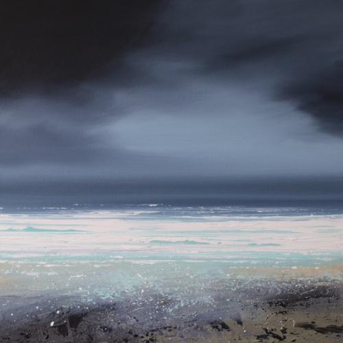 Winter waves original painting